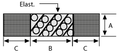 Wire Mesh Bonded to Elastomer Double